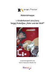 Materialmappe 1. Kinderkonzert: Sergej Prokofjew