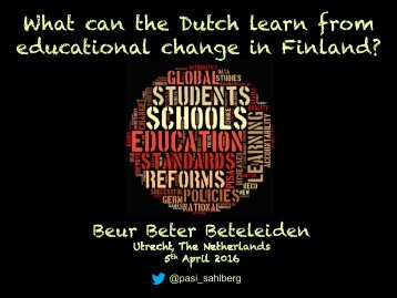 What can the Dutch learn from educational change in Finland?
