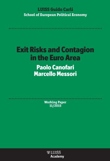 Exit Risks and Contagion in the Euro Area