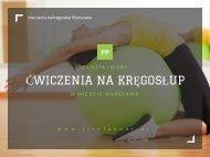 Cwiczenia na kregoslup Warszawa