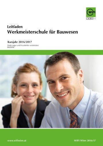 Leitfaden: Werkmeisterschule für Bauwesen