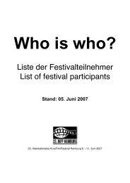 Team - Das Internationale Kurz Film Festival Hamburg