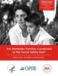 Are Homeless Families Connected to the Social Safety Net?