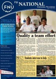FNU Newsletter Vol3 No 47 April 26 2012 - Fiji National University