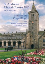 St Andrews Choral Course 2016