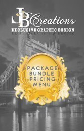 LB Creations Exclusive Graphic Design Pricing- Custom Packages