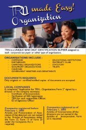TRN Made Easy - Organisations - Tax Administration Jamaica (TAJ)