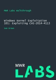 Windows Kernel Exploitation 101 Exploiting CVE-2014-4113