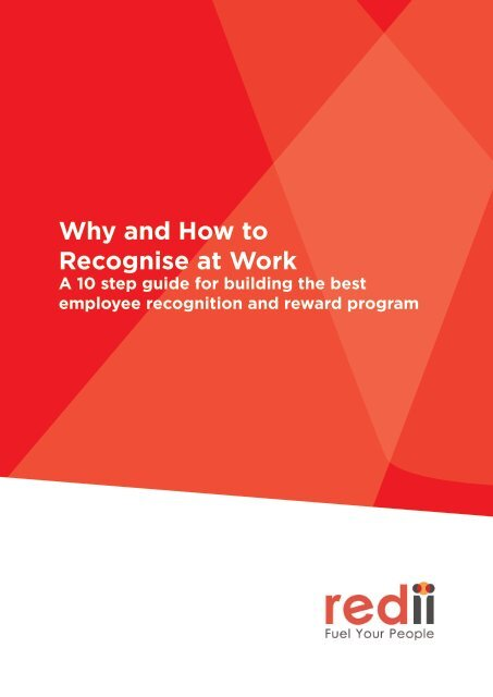 Why and How to Recognise at Work