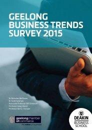 GEELONG BUSINESS TRENDS SURVEY 2015