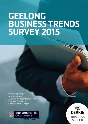 GEELONG BUSINESS TRENDS SURVEY 2015