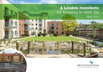 A London manifesto for housing in later life