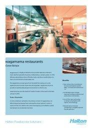 wagamama r wagamama restaurants - Halton Foodservice GmbH
