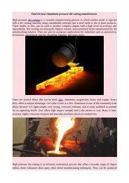 Find the best Aluminum pressure die casting manufacturer