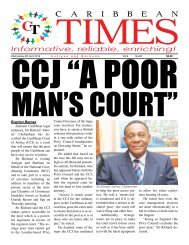 Caribbean Times 83rd issue - Wednesday 6th April 2016