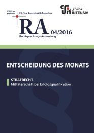 RA 04/2016 - Entscheidung des Monats