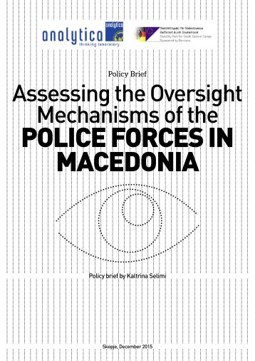 POLICE FORCES IN MACEDONIA