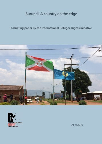 Burundi A country on the edge