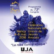 FNUJA - programme congrès 2016