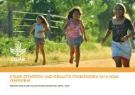 CGIAR STRATEGY AND RESULTS FRAMEWORK 2016-2030 OVERVIEW