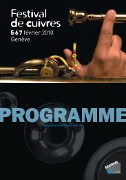 programme - Geneva Brass Festival
