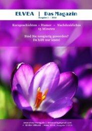 Elvea   Das Magazin, Ausgabe 1/2016