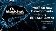 Developments in the BREACH Attack