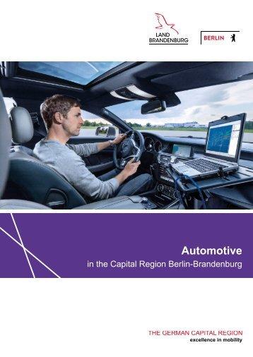 Automotive in the Capital Region Berlin-Brandenburg