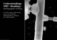Understanding NRT- Reading 1 of 2- Radiogaphic Testing A