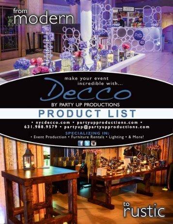 Product List 2016