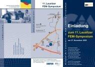 11. Lausitzer FEM-Symposium - Arbeitsgemeinschaft Computational ...