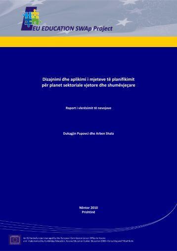 Dizajnimi dhe aplikimi i mjeteve të planifikimit për planet sektoriale ...