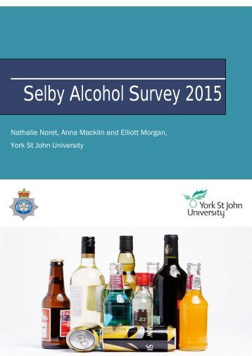 Selby Alcohol Survey 2015