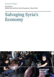 Salvaging Syria's Economy