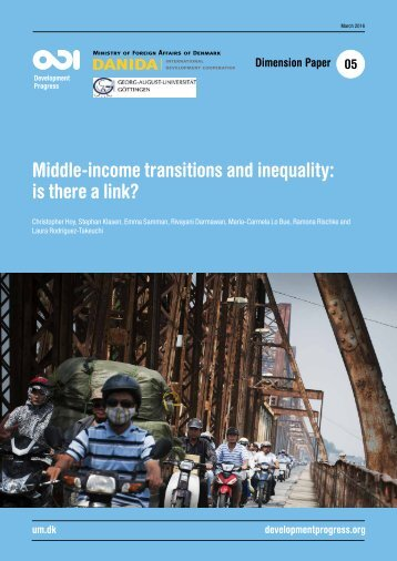 Middle-income transitions and inequality is there a link?