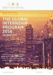 THE GLOBAL INTERNSHIP PROGRAM 2016