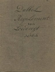Dubbel reglement Loosdrecht 1804