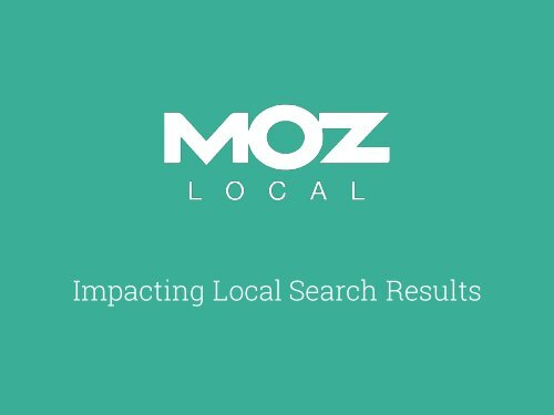Impacting Local Search Results