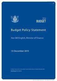 Budget Policy Statement