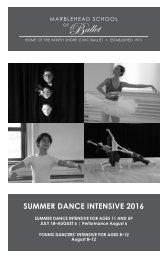 SUMMER DANCE INTENSIVE 2016