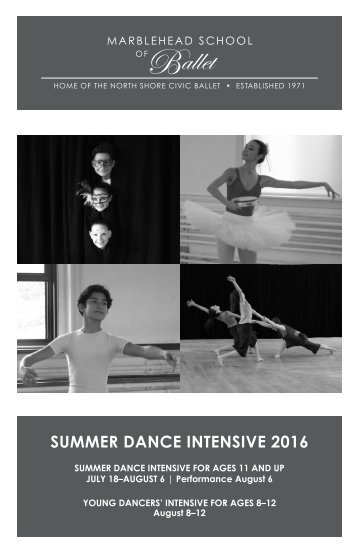 SUMMER DANCE INTENSIVE 2016