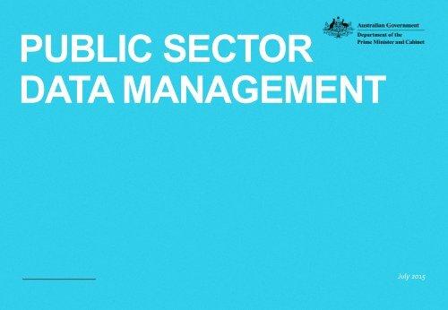PUBLIC SECTOR DATA MANAGEMENT