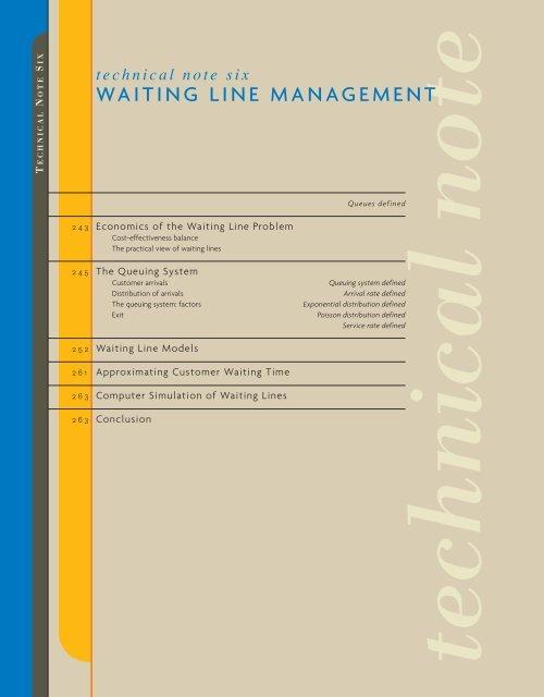 WAITING LINE MANAGEMENT - Ateneonline