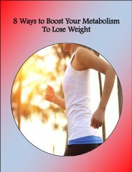 8 Ways to Boost Your Metabolism To Lose Weight
