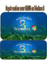 Fix Error R6016 on windows 8