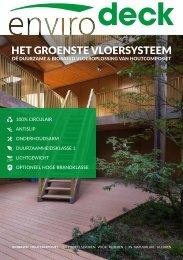 Envirodeck presenteert het groenste vloersysteem uit duurzaam composiethout
