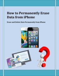 How to Permanently Erase Data from iPhone