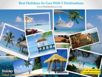 Best Holidays In Goa With 5 Destinations - HolidayKeys.co.uk