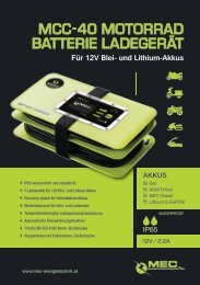 MEC MCC-40 Motorcycle Battery Charger