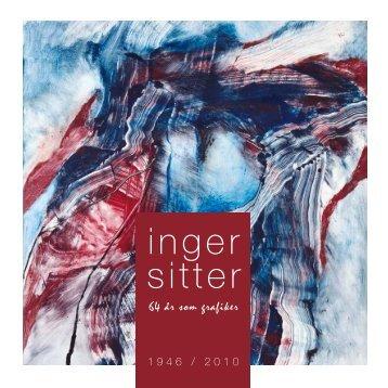 Katalog - Inger Sitter 64 år som grafiker - Kunstverket Galleri